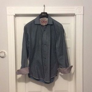 Robert Graham Casual Flip Cuff Shirt Geometric